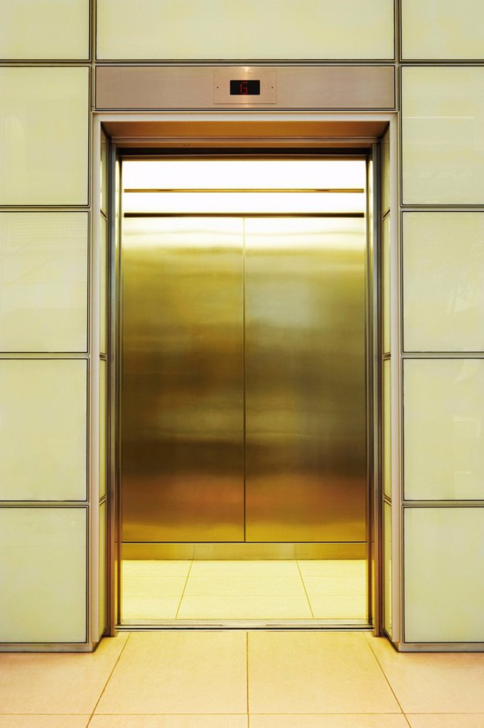 Empty open Elevator : Stock Photo