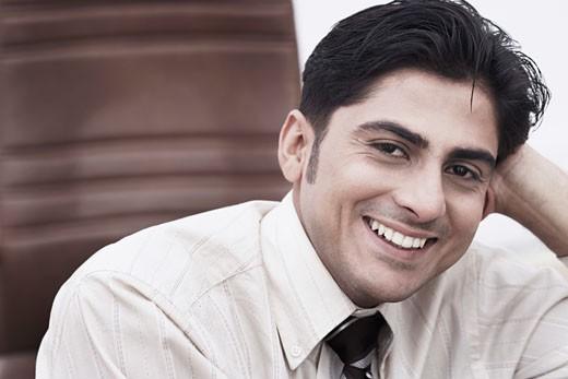 Stock Photo: 1657R-1378 Portrait of a businessman smiling