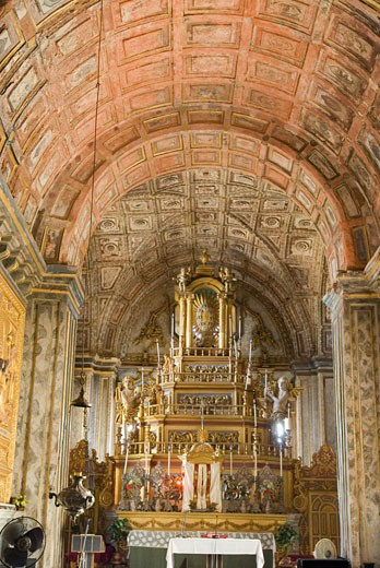 Interiors of a cathedral, Se Cathedral, Old Goa, Goa, India : Stock Photo