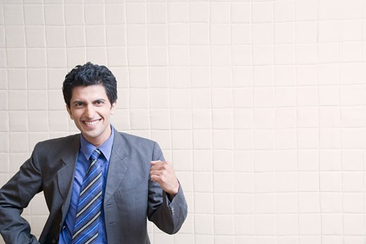 Portrait of a businessman smiling : Stock Photo