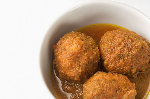 Stock Photo: 1657R-22659 Close-up of meatballs served in a bowl
