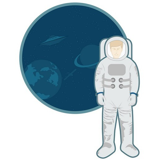 Astronaut in space suit : Stock Photo