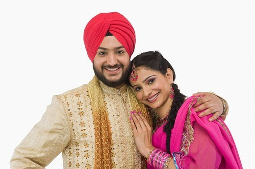 Stock Photo: 1657R-37162 Sikh couple smiling