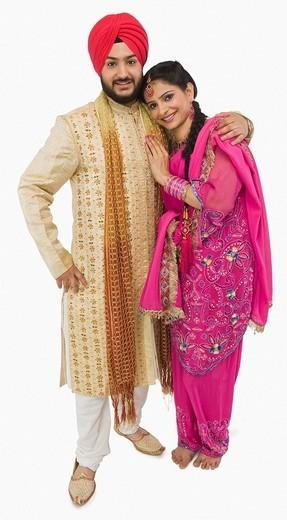 Sikh couple smiling : Stock Photo
