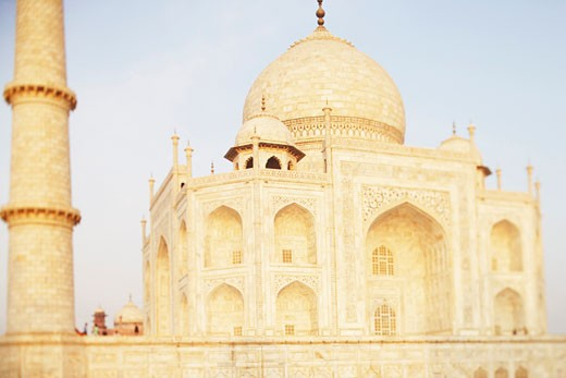 Stock Photo: 1657R-8134 Facade of a mausoleum, Taj Mahal, Agra, Uttar Pradesh, India