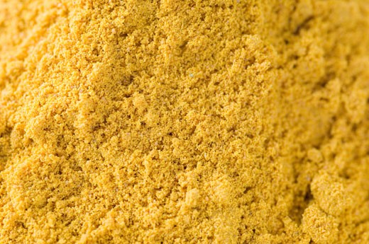 Close-up of Coriander powder : Stock Photo