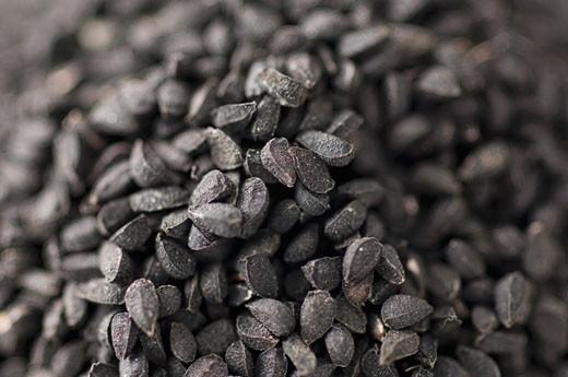 Stock Photo: 1657R-9171 Close-up of Black Caraway seeds