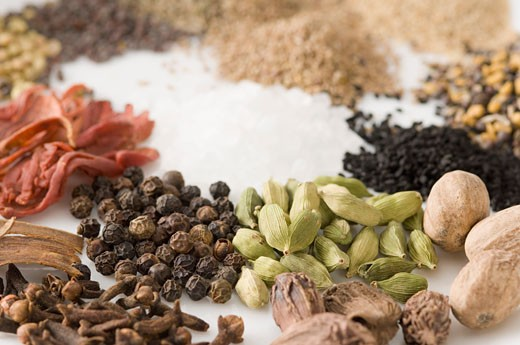 Stock Photo: 1657R-9191 Close-up of spices