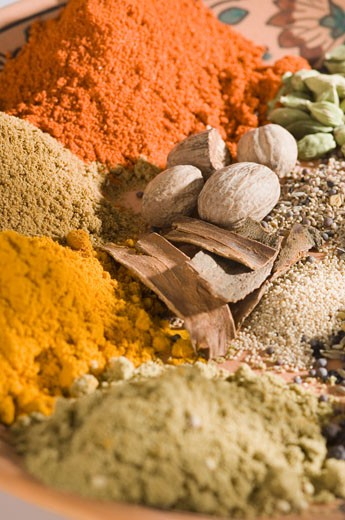 Stock Photo: 1657R-9202 Close-up of spices