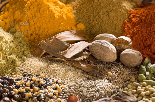 Stock Photo: 1657R-9205 Close-up of spices