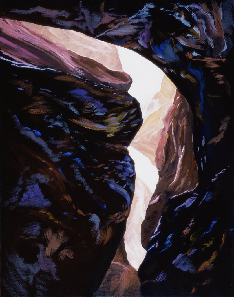 Canyon Suite 1 2006 Joel Barr (b.1946 American) Oil on Canvas : Stock Photo