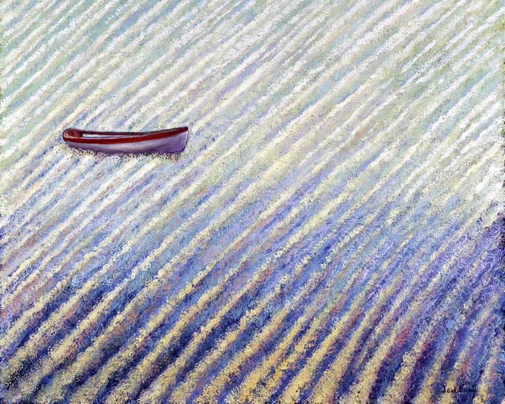 Adrift and safe, 2008, Joel Barr, (b.1946/American), Oil on canvas : Stock Photo