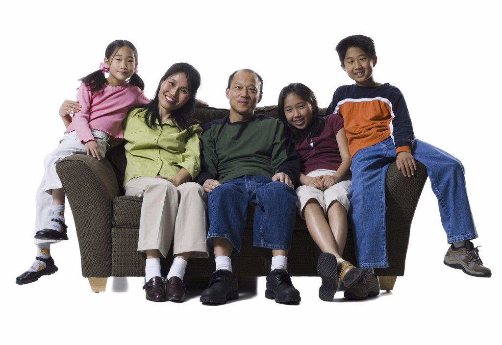Portrait of a family smiling : Stock Photo