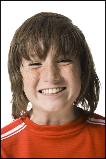Portrait of a boy smiling : Stock Photo
