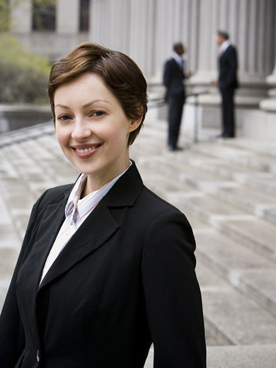 Stock Photo: 1660R-11890 Portrait of a female lawyer smiling