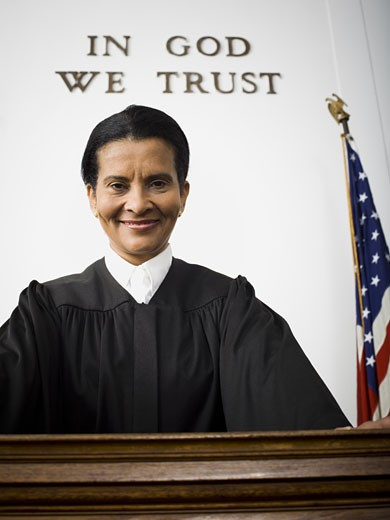 Stock Photo: 1660R-11891 Portrait of a female judge smiling