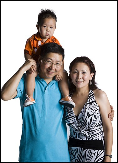Stock Photo: 1660R-11953 Asian parents with young boy