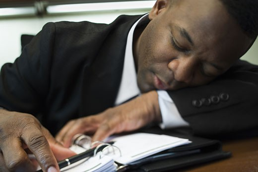 Stock Photo: 1660R-12246 Close-up of a businessman sleeping
