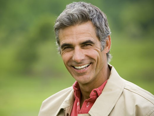 Stock Photo: 1660R-12815 Portrait of a man smiling