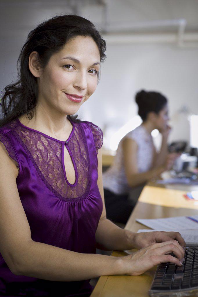 Portrait of a mature woman smiling : Stock Photo
