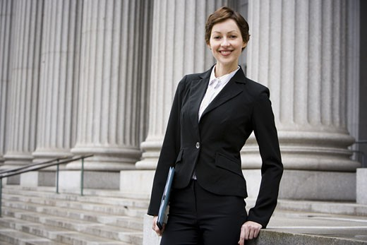 Stock Photo: 1660R-13110 Portrait of a female lawyer smiling