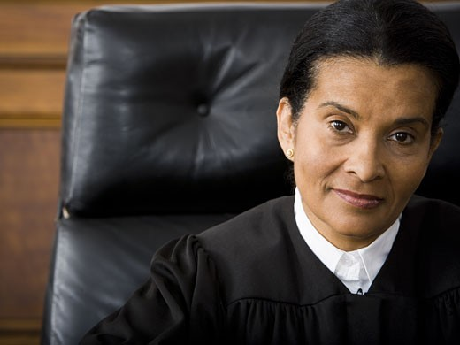 Stock Photo: 1660R-13129 Portrait of a female judge