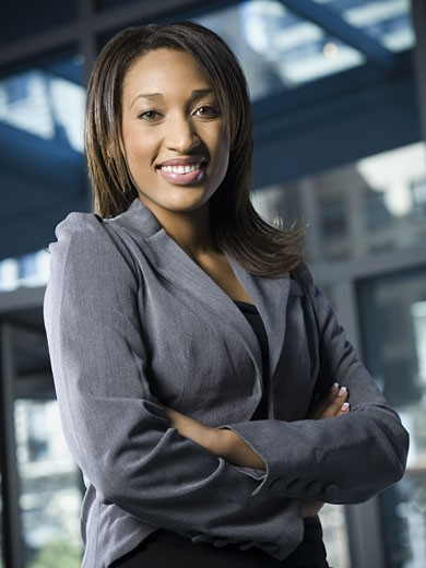 Stock Photo: 1660R-13721 Portrait of a businesswoman smiling