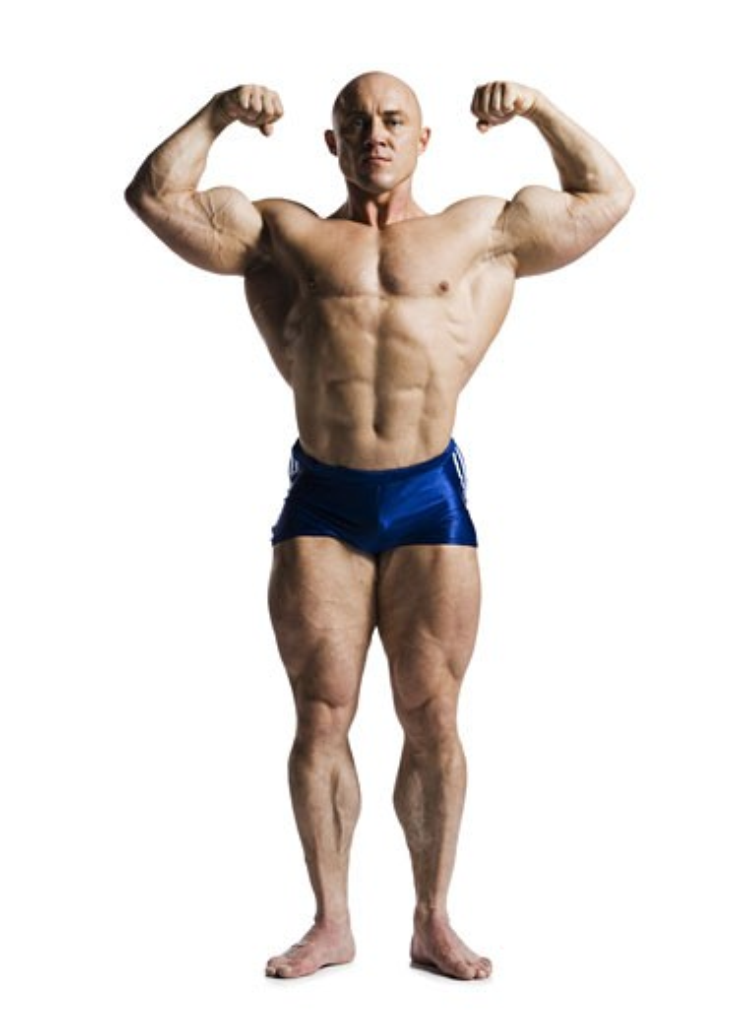 Stock Photo: 1660R-13991 Male bodybuilder posing