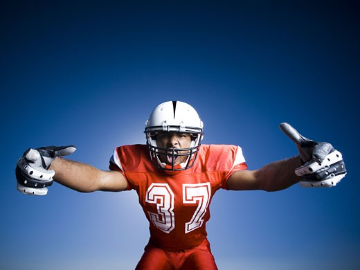 Stock Photo: 1660R-14543 Football player