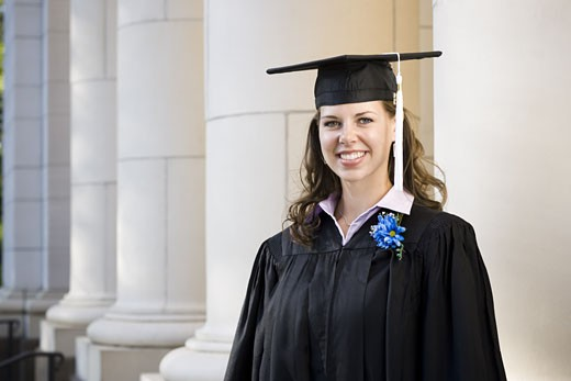 Stock Photo: 1660R-14601 Female student graduate