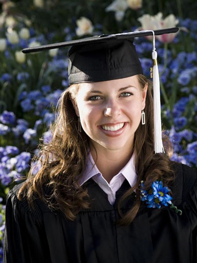 Female college graduate : Stock Photo