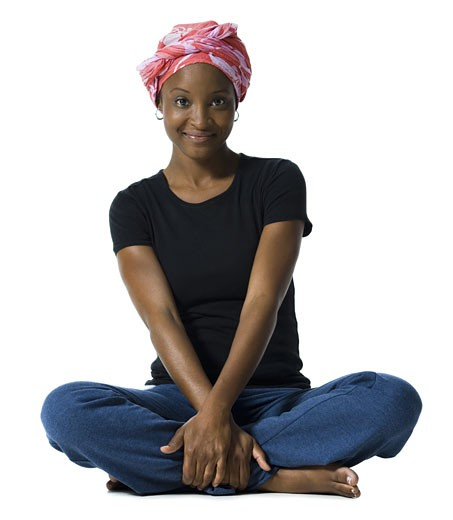 Stock Photo: 1660R-14611 Woman wearing a head scarf