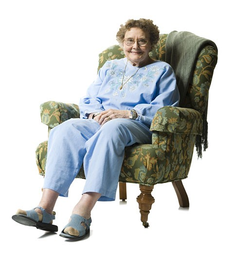 Stock Photo: 1660R-14827 Elderly woman
