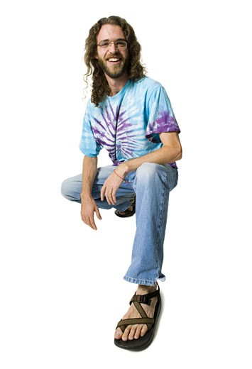 Stock Photo: 1660R-15218 Man with long hair and beard