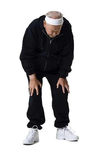 Stock Photo: 1660R-15442 Older man in track suit