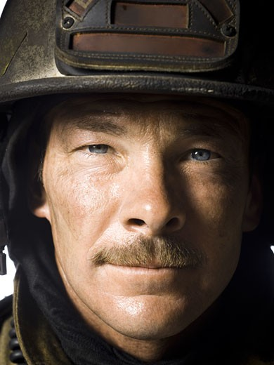 Stock Photo: 1660R-16345 Portrait of a firefighter close-up