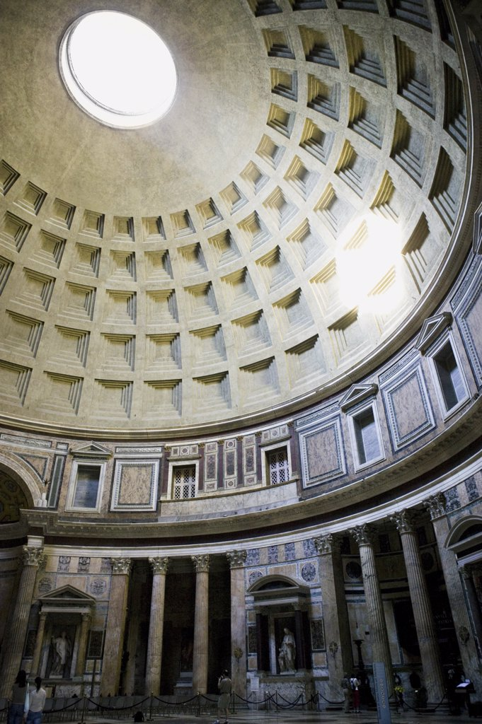 Stock Photo: 1660R-17120 Inside the Pantheon in Rome Italy