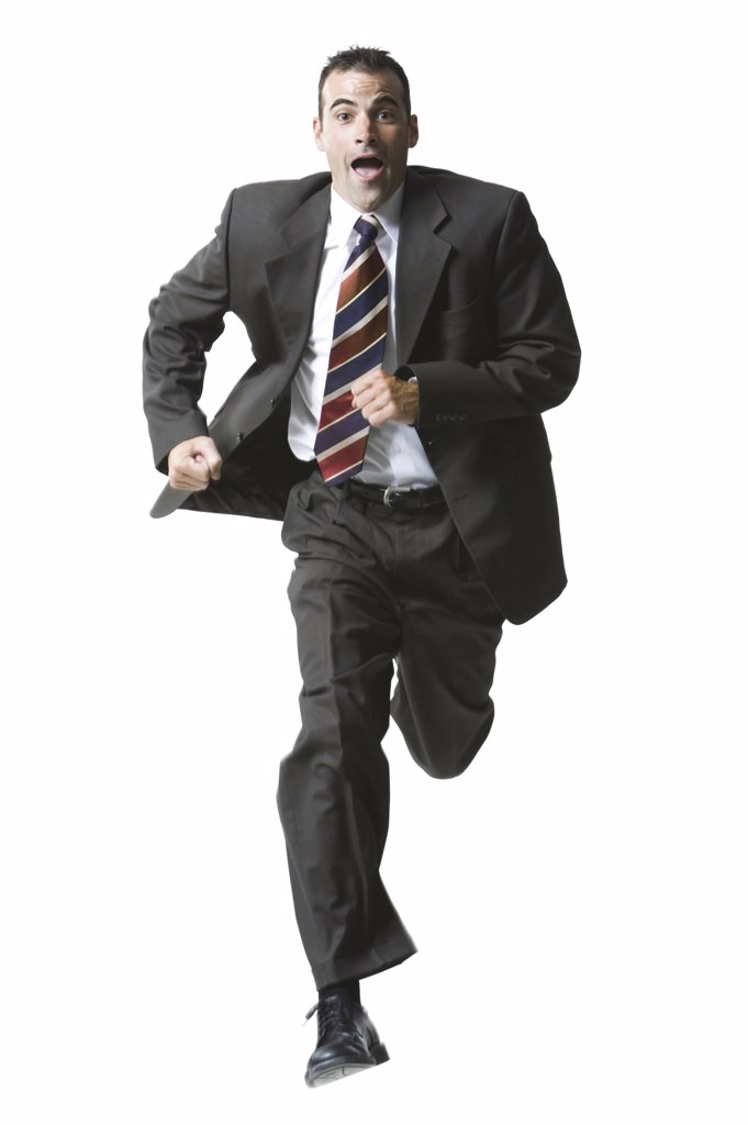 Businessman running : Stock Photo