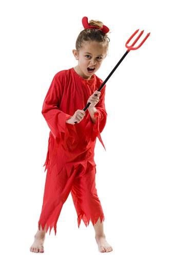 Stock Photo: 1660R-18816 Girl in devil costume