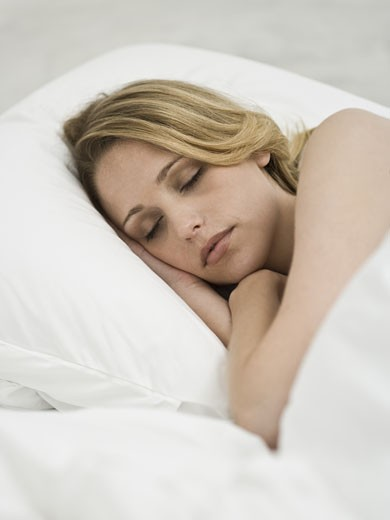Stock Photo: 1660R-20034 Woman sleeping