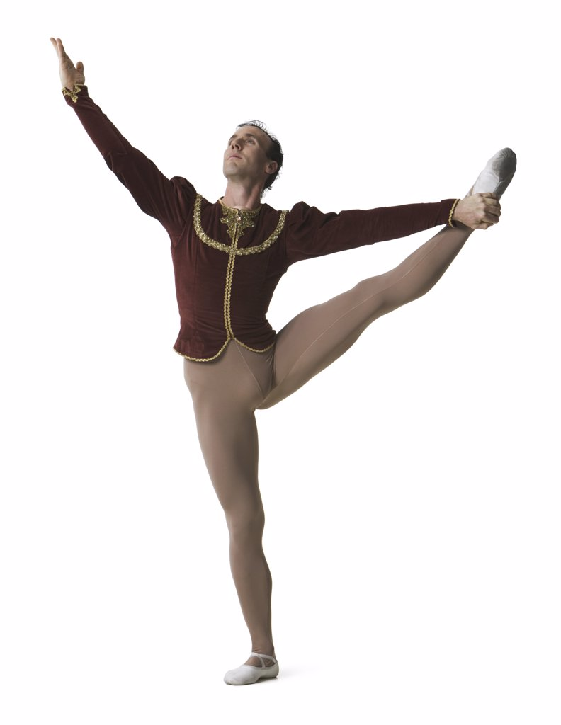Stock Photo: 1660R-2136 Male ballet dancer performing ballet