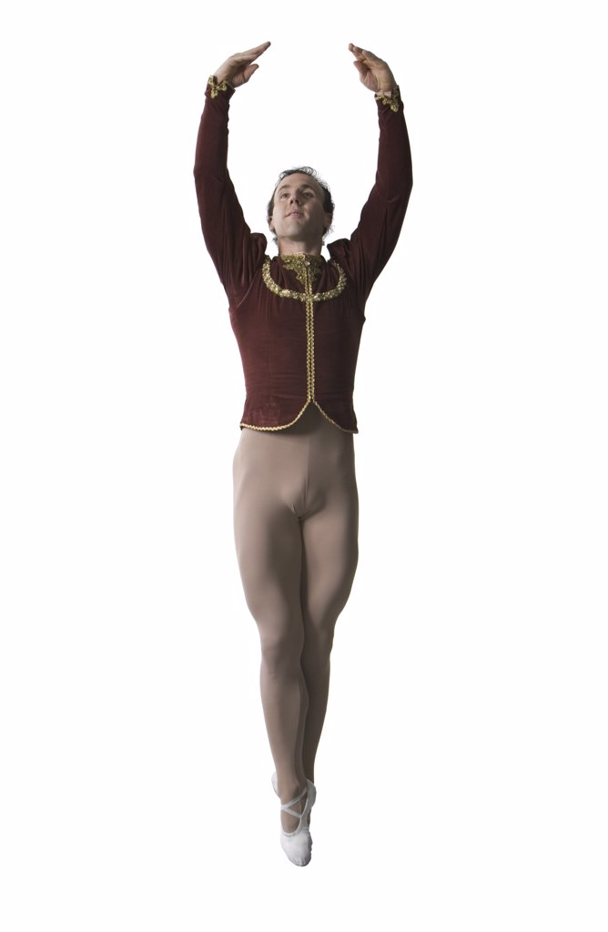 Stock Photo: 1660R-2139 Male ballet dancer performing ballet