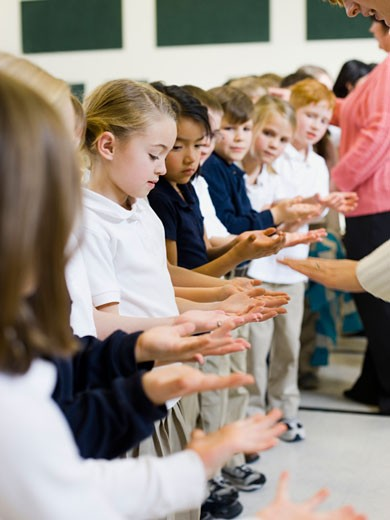 Stock Photo: 1660R-23498 children at school
