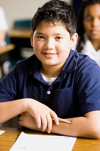 boy in a classroom : Stock Photo