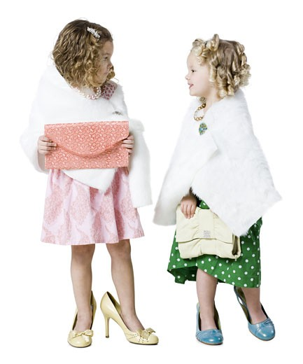 Stock Photo: 1660R-23754 girls playing dress up