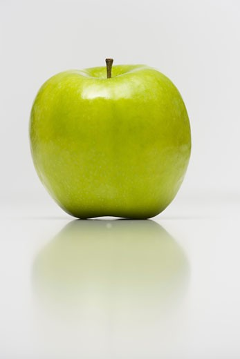 Stock Photo: 1660R-2459 Close-up of a granny smith apple (aphis pomi)