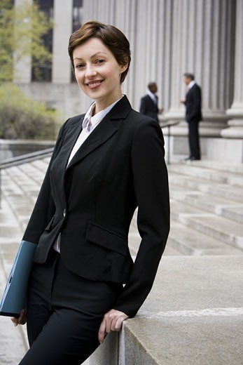 Stock Photo: 1660R-24794 Portrait of a female lawyer smiling