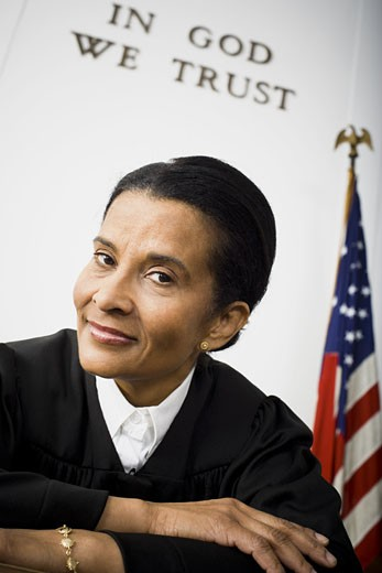Stock Photo: 1660R-24798 Portrait of a female judge smiling