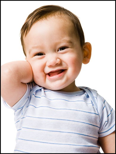 Stock Photo: 1660R-25583 Baby boy smiling.