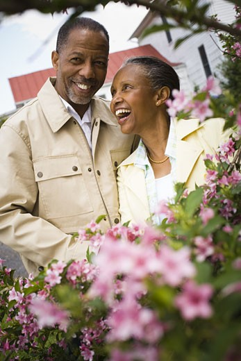 Stock Photo: 1660R-27485 Close-up of a senior man and a senior woman looking at each other